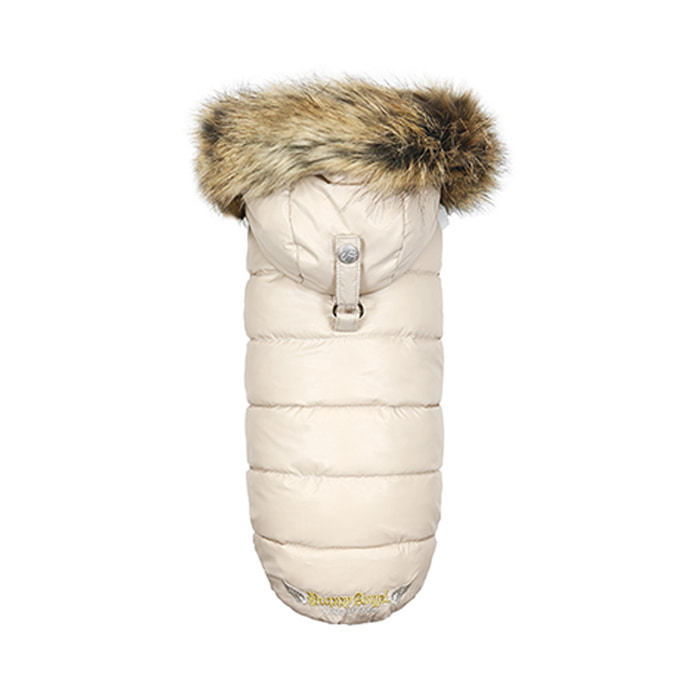 [PA-OW240] Puppy Angel Love Down Hood Detachable Fur Trim High Vest (Regular, Zip-up)