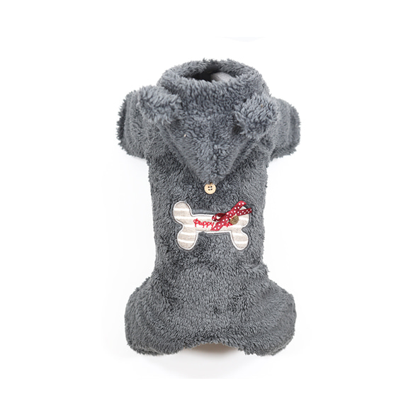 [OW262] Puppy Angel BBOBBO Bodysuit (All cover_여아용)_#801 GRAY